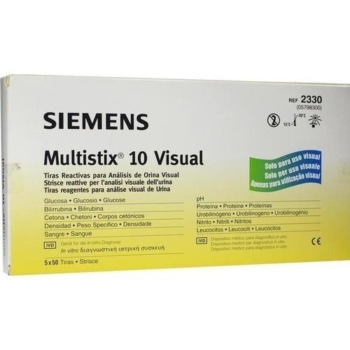 Multistix 10 Visuell, 5X50 ST, Siemens Healthcare GmbH
