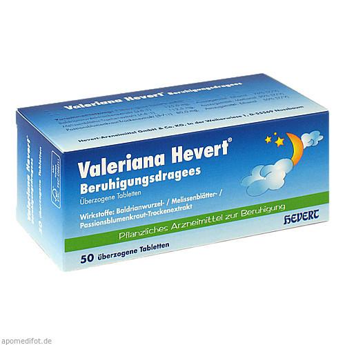 Valeriana Hevert Beruhigungsdragees, 50 ST, Hevert Arzneimittel GmbH & Co. KG