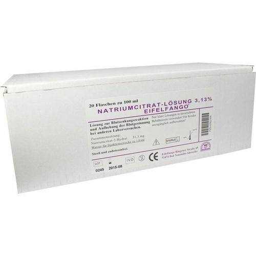 Natriumcitrat-Lösung 3.13% Eifelfango, 20X100 ML, Eifelfango GmbH & Co. KG