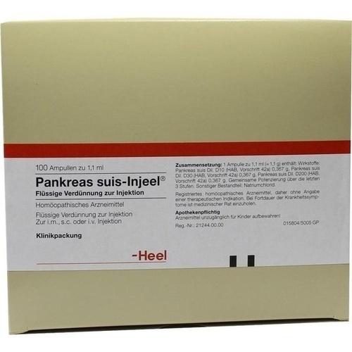 PANKREAS SUIS INJ ORG, 100 ST, Biologische Heilmittel Heel GmbH