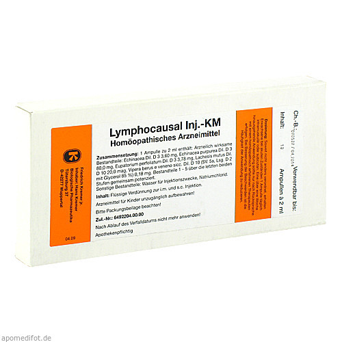 LYMPHOCAUSAL KM Injektion Ampullen, 10X2 ML, Firma Kremer GmbH & Co. KG