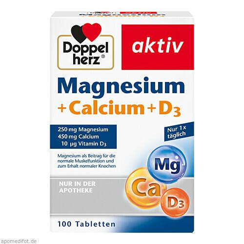 Doppelherz Magnesium + Calcium + D3, 100 ST, Queisser Pharma GmbH & Co. KG