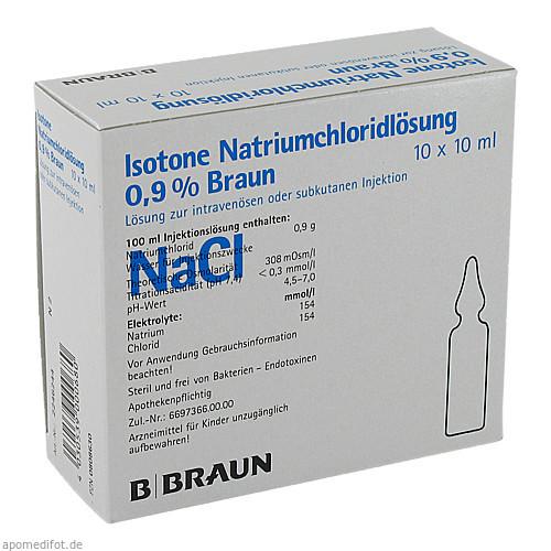 KOCHSALZ 0.9% ISOTON, 10X10 ML, B. Braun Melsungen AG