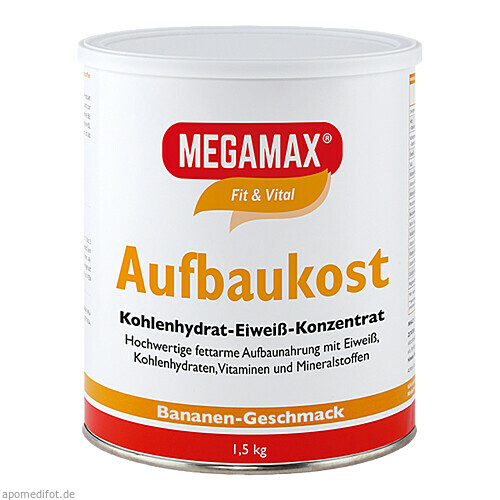 MEGAMAX Aufbaukost Banane, 1.5 KG, Megamax B.V.