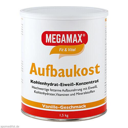 MEGAMAX Aufbaukost Vanille, 1.5 KG, Megamax B.V.
