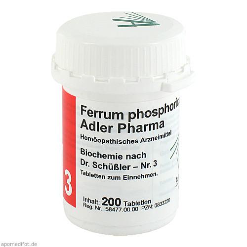 Biochemie Adler 3 Ferrum Phosphoricum D12 Adler Ph, 200 ST, Adler Pharma Produktion und Vertrieb GmbH