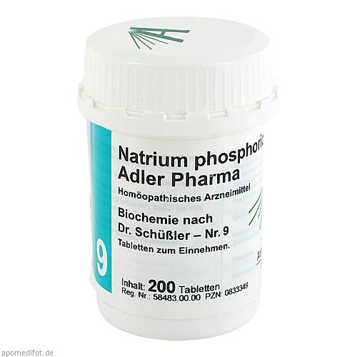 Biochemie Adler 9 Natrium Phosphoricum D 6 Adler P, 200 ST, Adler Pharma Produktion und Vertrieb GmbH