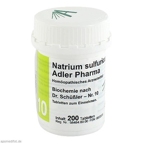 Biochemie Adler 10 Natrium Sulfuricum D 6 Adler Ph, 200 ST, Adler Pharma Produktion und Vertrieb GmbH
