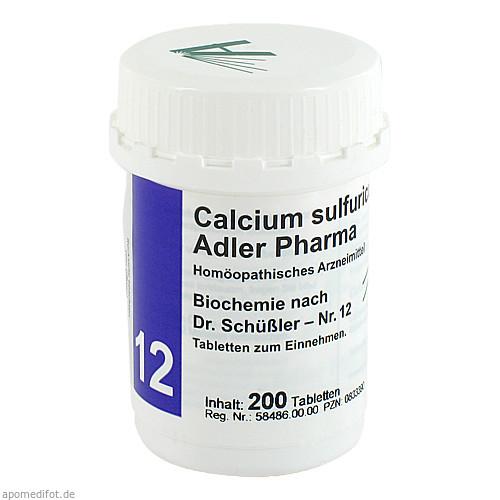 Biochemie Adler 12 Calcium Sulfuricum D 6 Adler Ph, 200 ST, Adler Pharma Produktion und Vertrieb GmbH