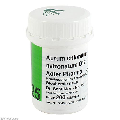 Biochemie Adler 25 Aurum Chlor.Natronat.D12 Adler, 200 ST, Adler Pharma Produktion und Vertrieb GmbH
