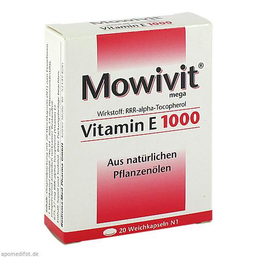 Mowivit Vitamin E 1000, 20 ST, Rodisma-Med Pharma GmbH
