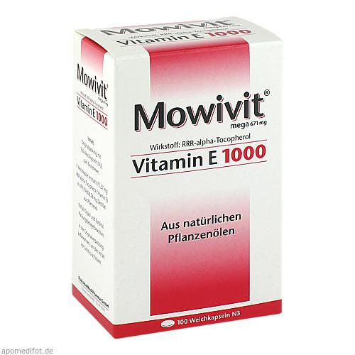 MOWIVIT Vitamin E 1000 Kapseln, 100 ST, Rodisma-Med Pharma GmbH