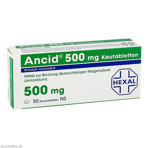 Ancid 500mg, 50 ST, HEXAL AG
