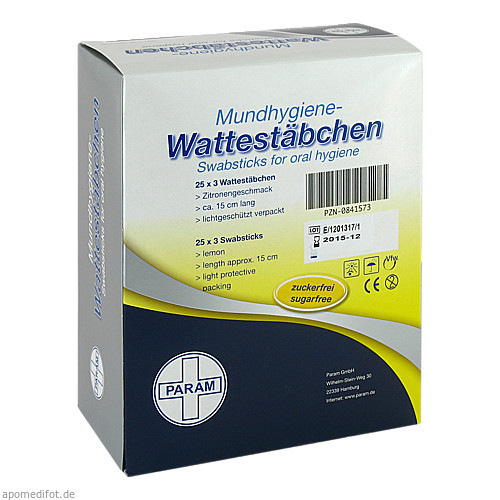 Lemon Swabs, 25X3 ST, Param GmbH