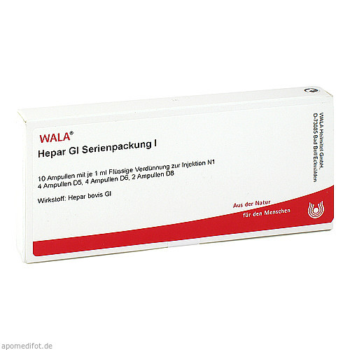 Hepar Gl Serienpackung I, 10X1 ML, Wala Heilmittel GmbH