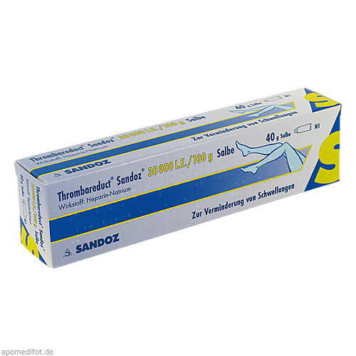 Thrombareduct Sandoz 30 000 I.E. Salbe, 40 G, HEXAL AG