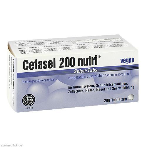 Cefasel 200 nutri Selen-Tabs, 200 ST, Cefak KG