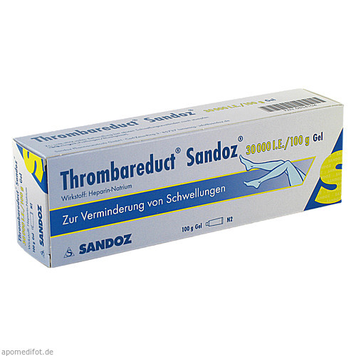 Thrombareduct Sandoz 30 000 I.E. Gel, 100 G, HEXAL AG