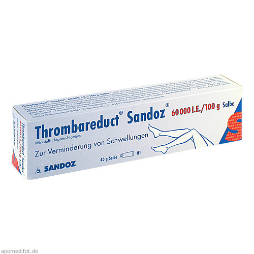 Thrombareduct Sandoz 60 000 I.E. Salbe, 40 G, HEXAL AG