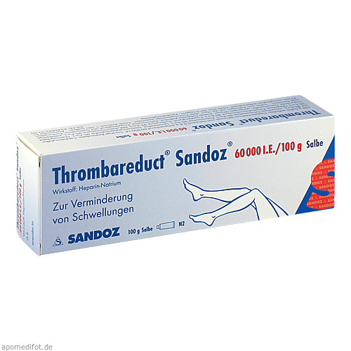 Thrombareduct Sandoz 60 000 I.E. Salbe, 100 G, HEXAL AG