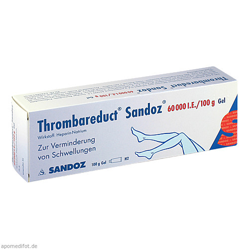 Thrombareduct Sandoz 60 000 I.E. Gel, 100 G, HEXAL AG