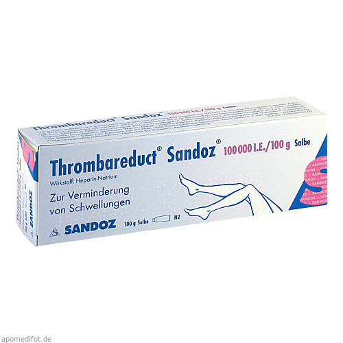 Thrombareduct Sandoz 100 000 I.E. Salbe, 100 G, HEXAL AG