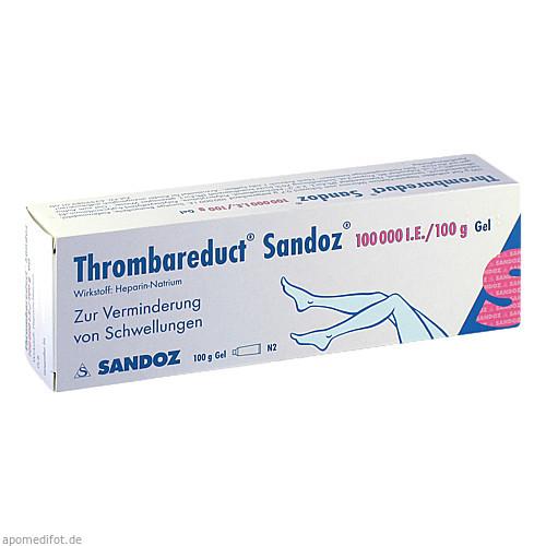Thrombareduct Sandoz 100 000 I.E. Gel, 100 G, HEXAL AG