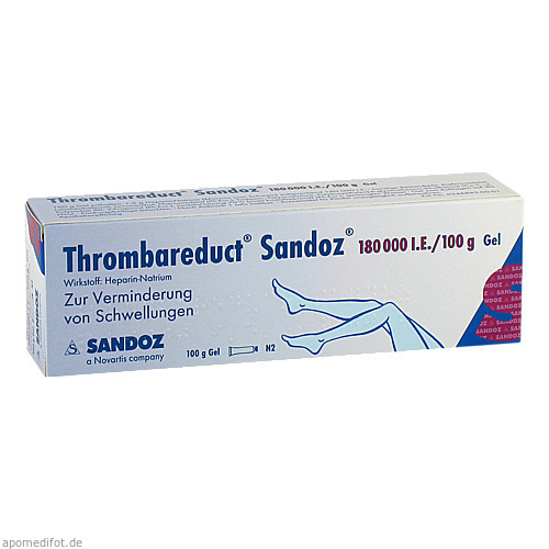 Thrombareduct Sandoz 180 000 I.E. Gel, 100 G, HEXAL AG