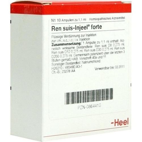 REN SUIS INJ FORTE ORG, 10 ST, Biologische Heilmittel Heel GmbH