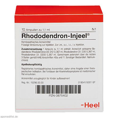 RHODODENDRON INJ, 10 ST, Biologische Heilmittel Heel GmbH