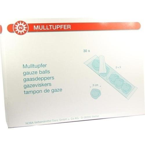 Mulltupfer pflaumengroß 2+3 Steril Set, 30 P, Nobamed Paul Danz AG