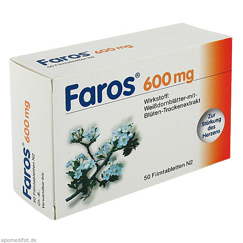 Faros 600mg, 50 ST, MCM KLOSTERFRAU Vertr. GmbH