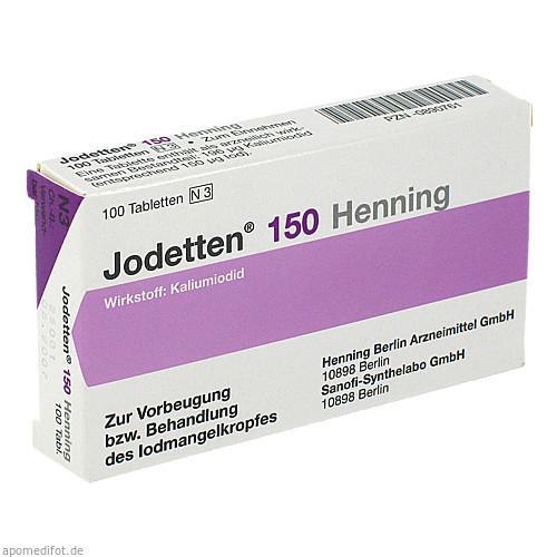 Jodetten 150 Henning, 100 ST, Sanofi-Aventis Deutschland GmbH