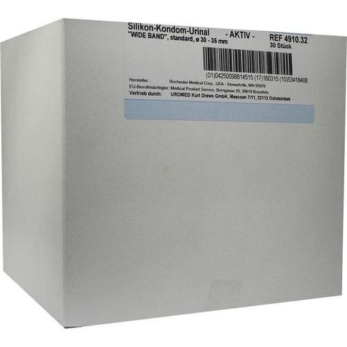 Kondomurinal Silikon Wide Band 32mm 4910, 30 ST, Uromed Kurt Drews KG