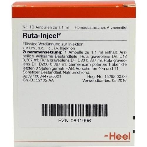 RUTA INJ, 10 ST, Biologische Heilmittel Heel GmbH