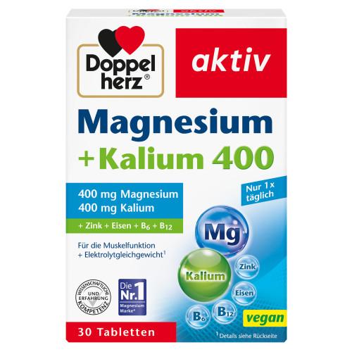 Doppelherz Magnesium + Kalium, 30 ST, Queisser Pharma GmbH & Co. KG