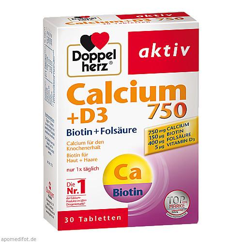 Doppelherz Calcium 750+D3+Biotin, 30 ST, Queisser Pharma GmbH & Co. KG