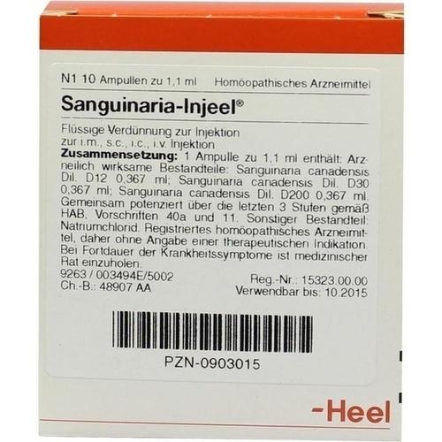 SANGUINARIA INJ, 10 ST, Biologische Heilmittel Heel GmbH