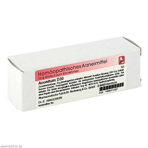 Aconitum D30, 10 G, Dr.Reckeweg & Co. GmbH