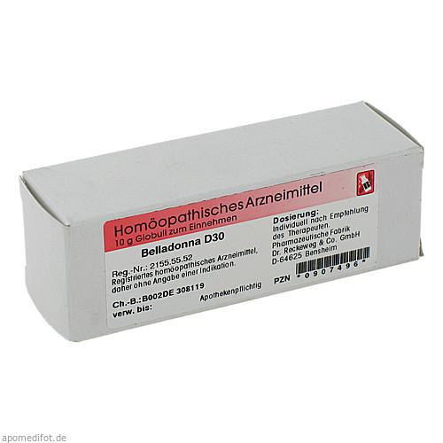 Belladonna D30, 10 G, Dr.Reckeweg & Co. GmbH