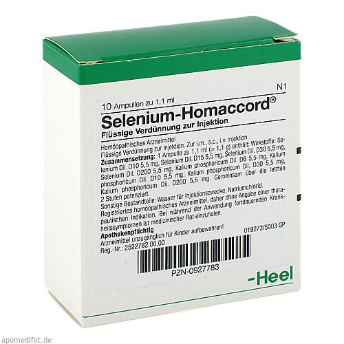 SELENIUM HOMACCORD, 10 ST, Biologische Heilmittel Heel GmbH