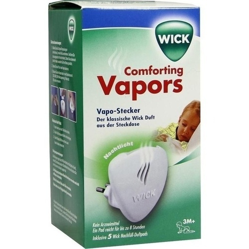 WICK Comforting Vapors Vapo-Stecker inkl.5Duft Pad, 1 P, Kaz Europe Sa