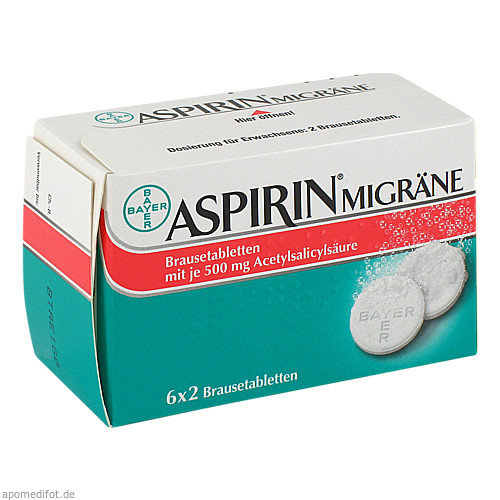 Aspirin Migräne, 12 ST, Bayer Vital GmbH