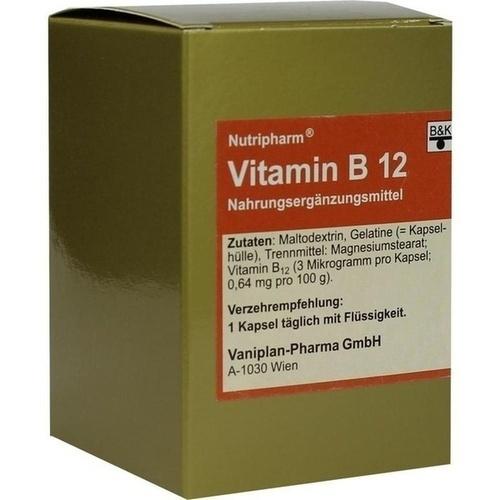 VITAMIN B12 Kapseln, 60 ST, B&K Nutripharm GmbH