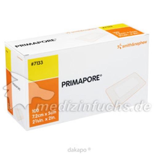 Primapore 7.5x5cm Wundverband einzeln steril, 100 ST, Pharma Gerke Arzneimittelvertriebs GmbH