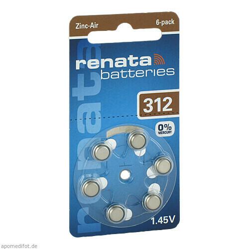 Renata Hörgeräte Batterien ZA 312, 1X6 ST, Dominik Kosteletzky