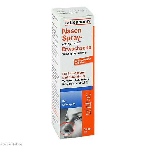 NasenSpray-ratiopharm Erwachsene, 10 ML, ratiopharm GmbH