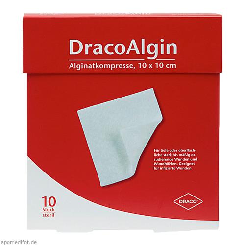 DracoAlgin 10x10cm Alginat Wundauflage, 10 ST, Dr. Ausbüttel & Co. GmbH