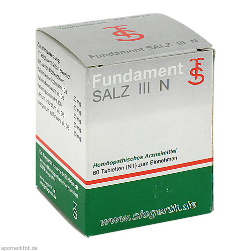 Fundament Salz III N, 80 ST, Dr. F. U. C.-H. Siegerth Naturheilmittel GmbH