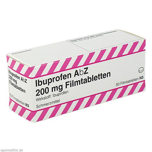 Ibuprofen AbZ 200 mg Filmtabletten, 50 ST, Abz-Pharma GmbH